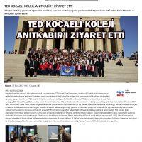 TED KOCAELİ KOLEJİ, ANITKABİR'İ ZİYARET ETTİ - Flaş Kocaeli Gazetesi
